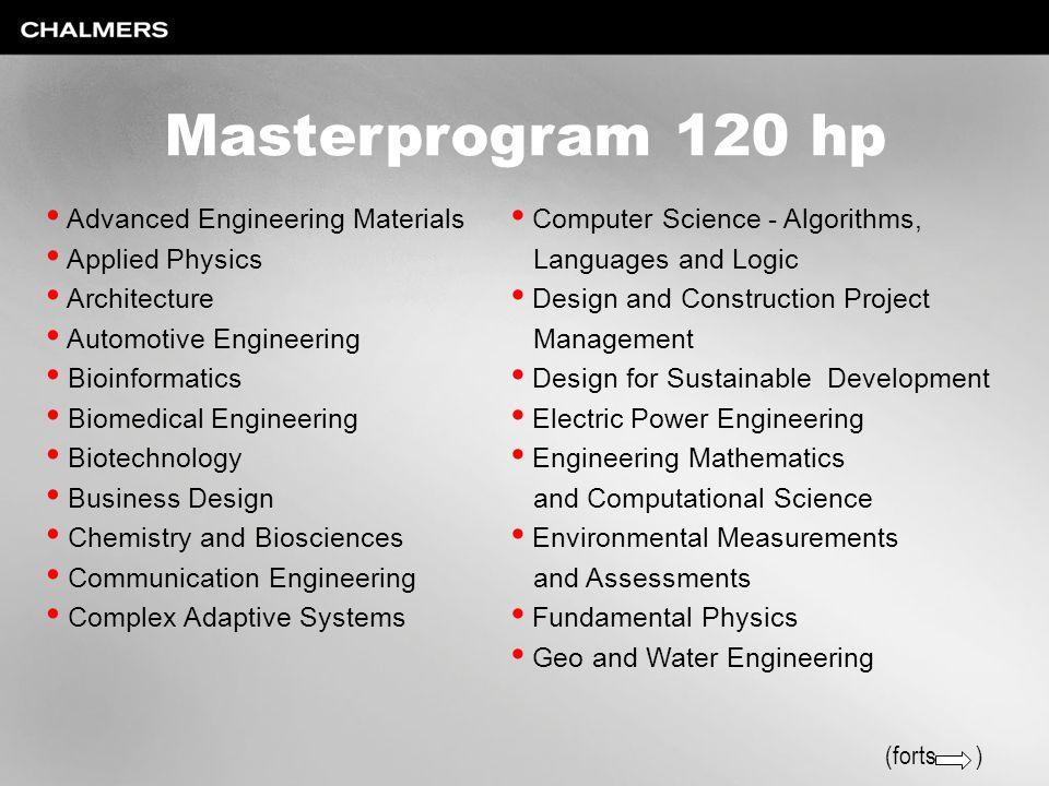 Masterprogram 120 hp Advanced Engineering Materials Applied Physics