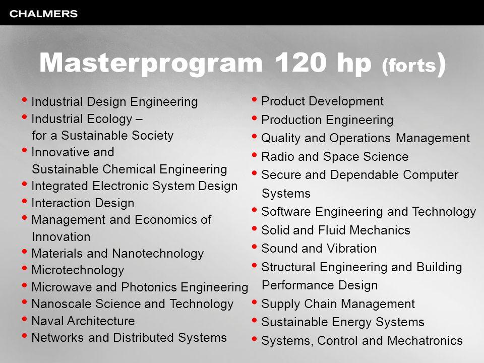 Masterprogram 120 hp (forts)