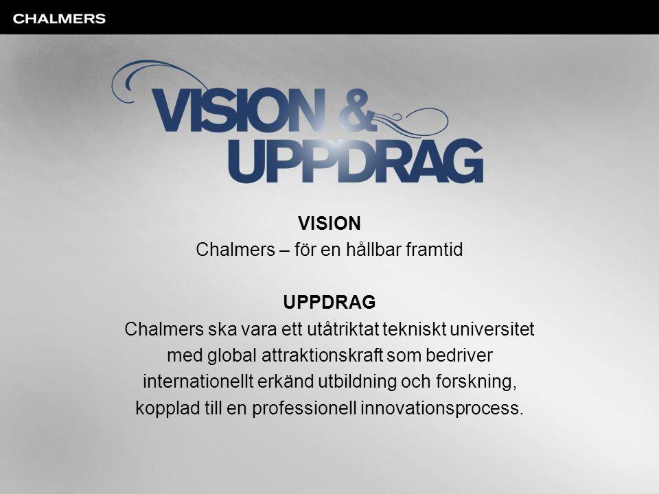 Chalmers – för en hållbar framtid UPPDRAG