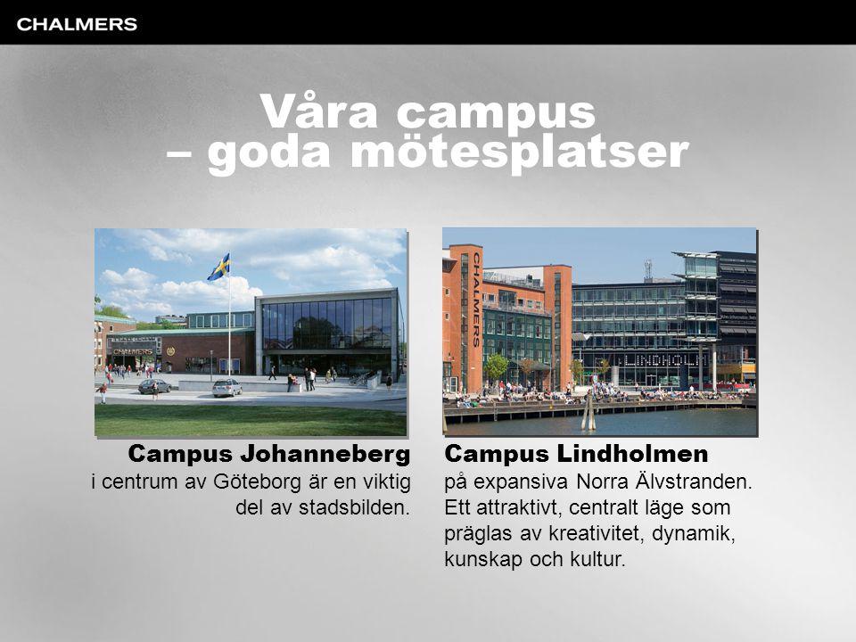 Våra campus – goda mötesplatser Campus Johanneberg Campus Lindholmen