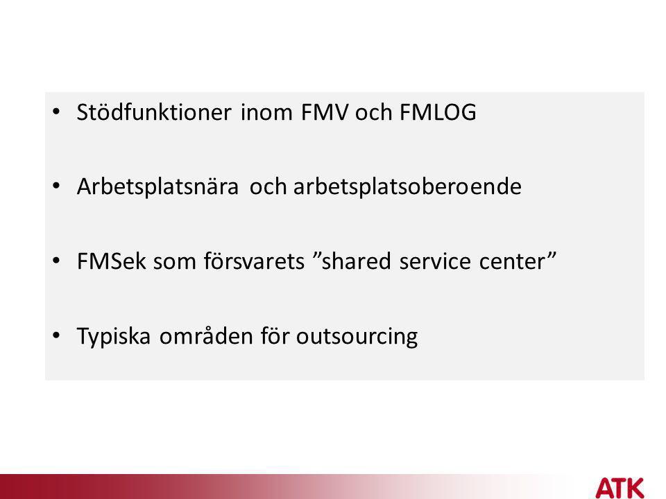 Stödfunktioner inom FMV och FMLOG