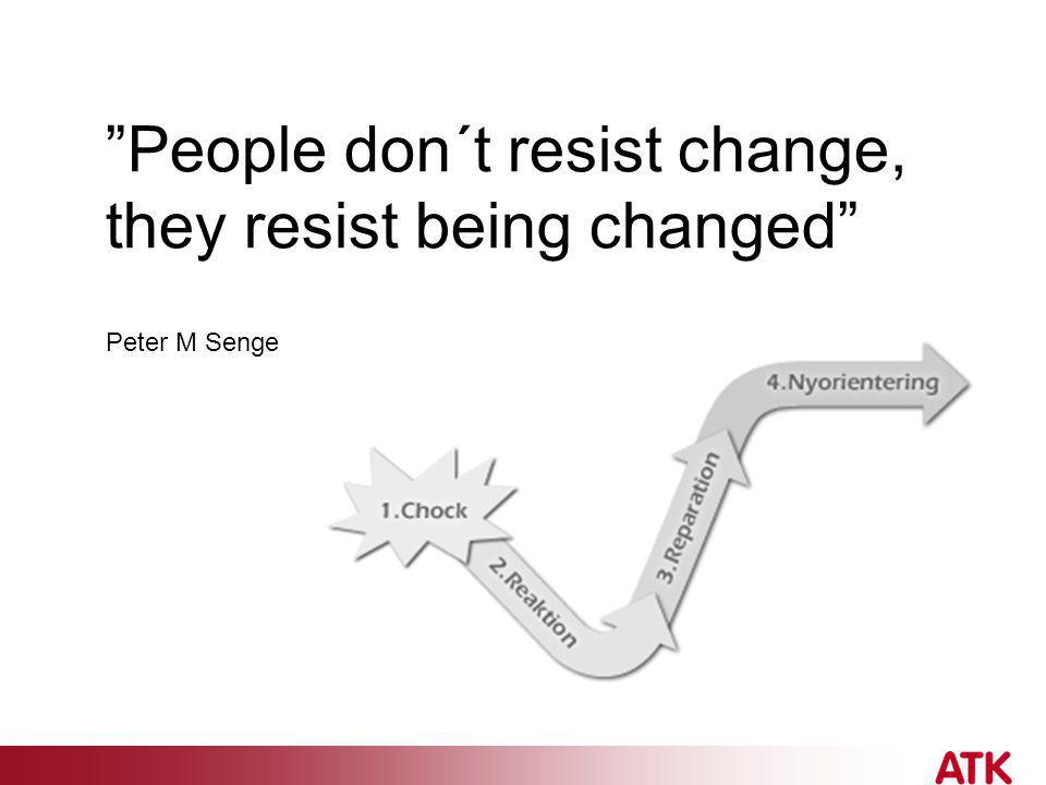 People don´t resist change, they resist being changed