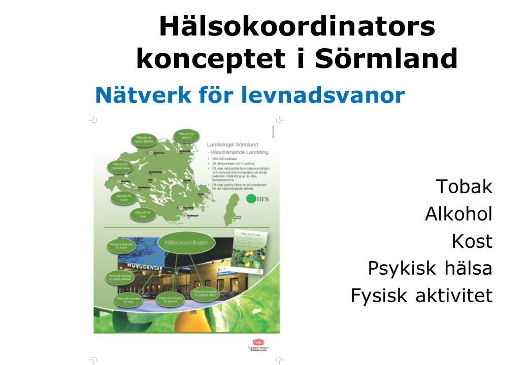 Hälsokoordinators konceptet i Sörmland