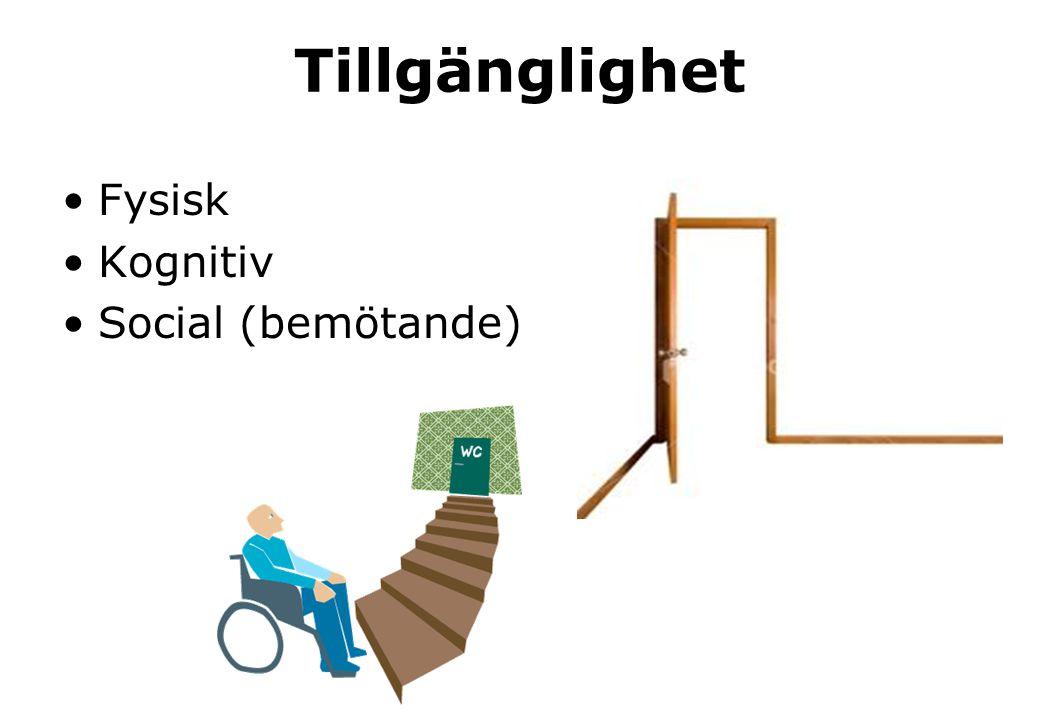 Tillgänglighet Fysisk Kognitiv Social (bemötande)