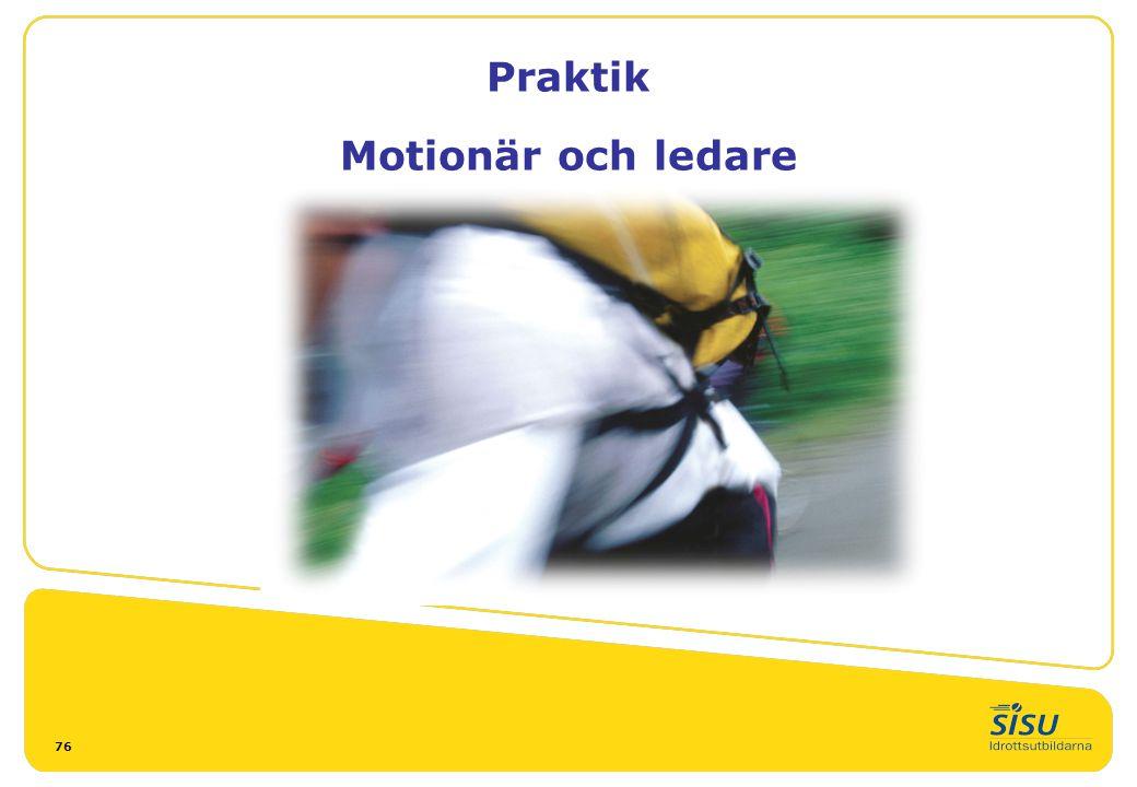 Praktik Motionär och ledare