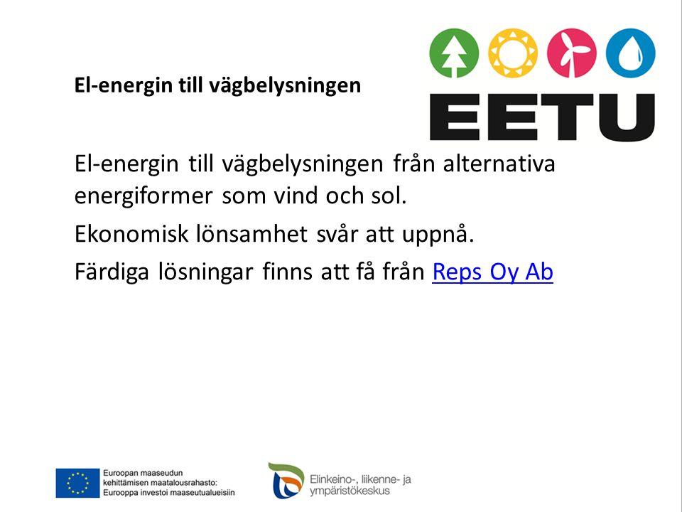 El-energin till vägbelysningen