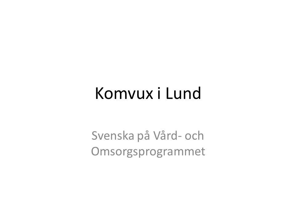 Svenska på Vård- och Omsorgsprogrammet