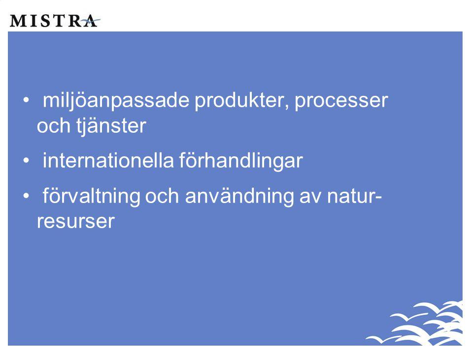 miljöanpassade produkter, processer och tjänster