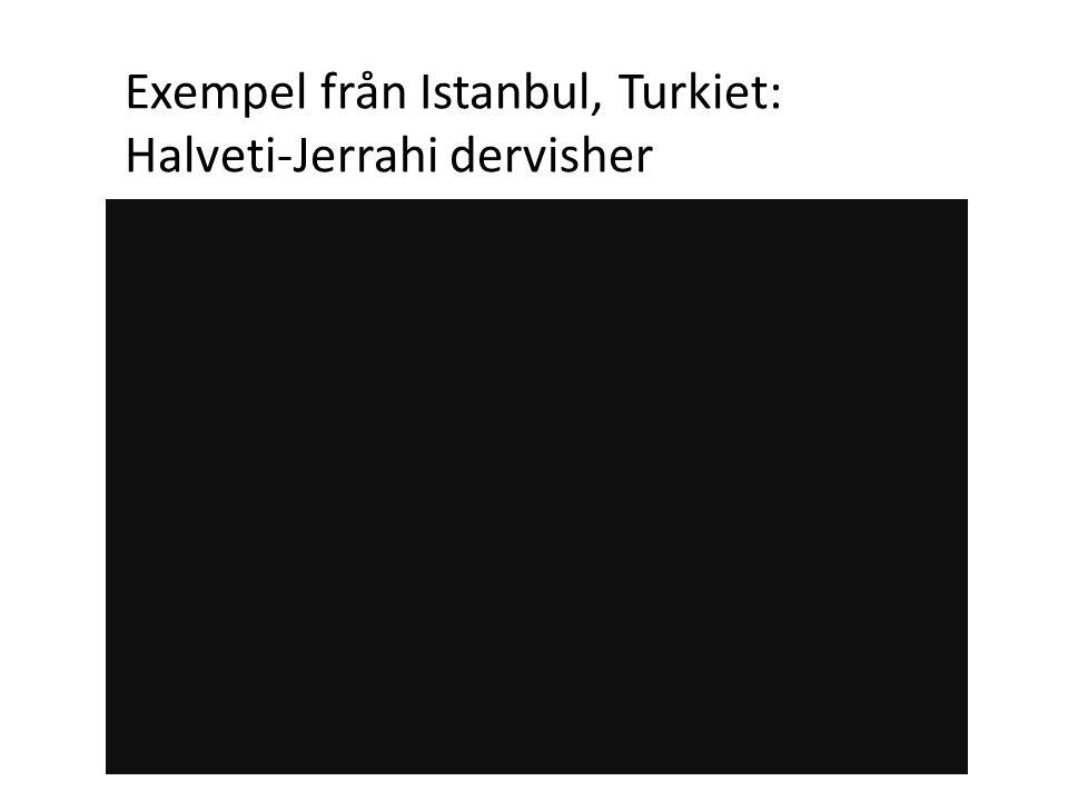Exempel från Istanbul, Turkiet: Halveti-Jerrahi dervisher