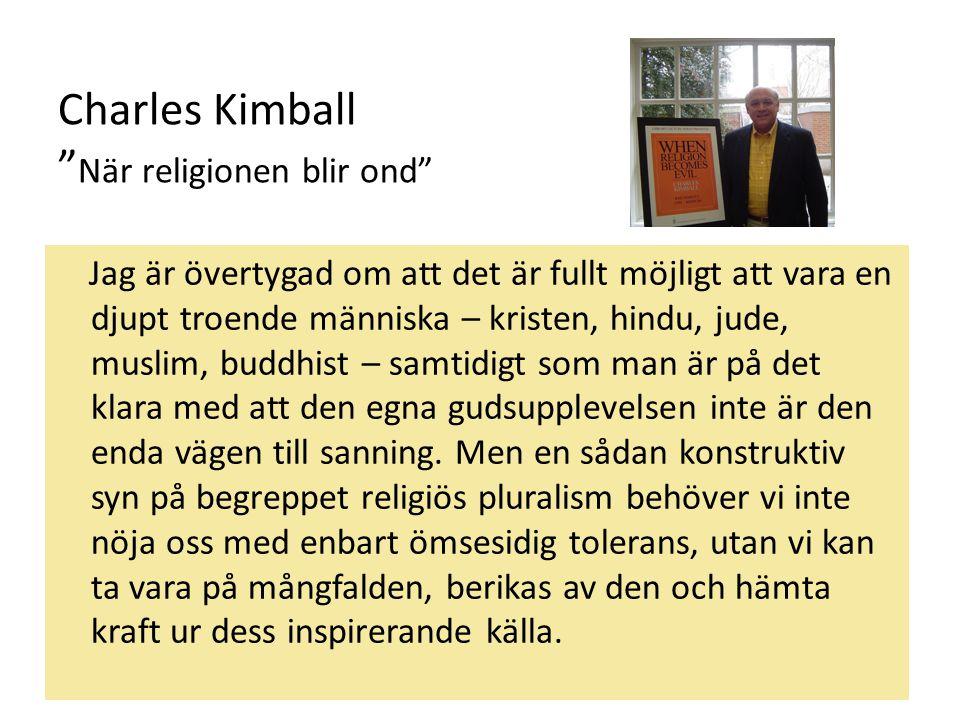 Charles Kimball När religionen blir ond