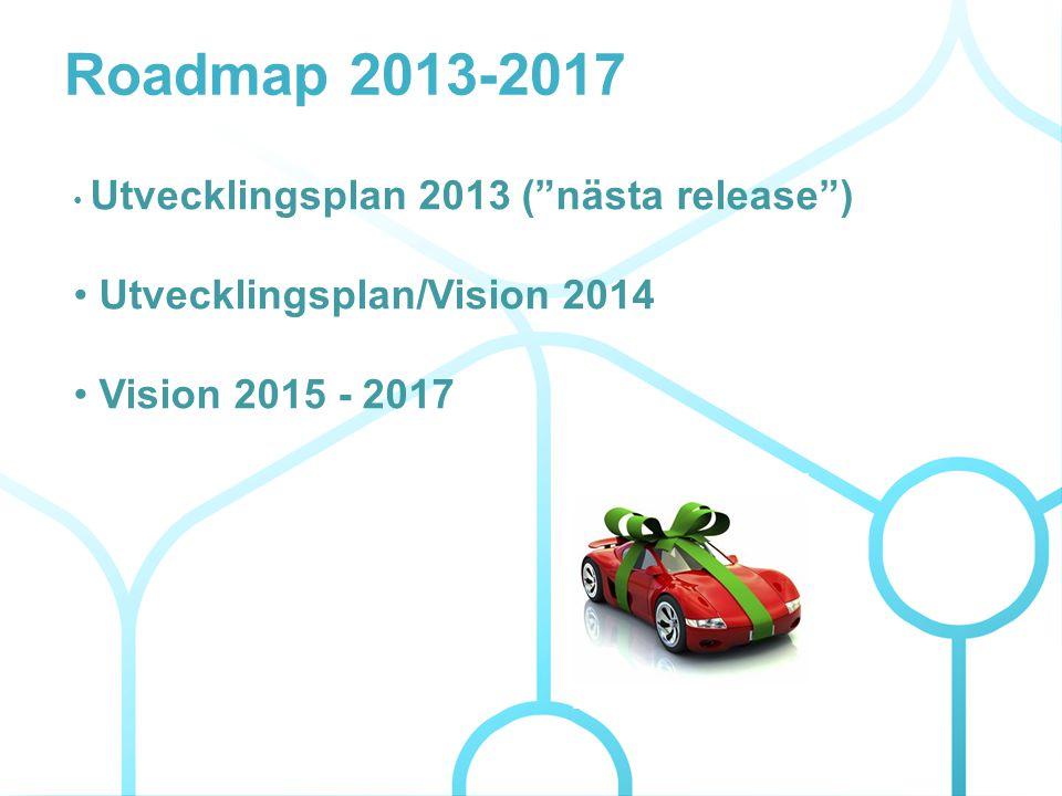 Roadmap 2013-2017 Utvecklingsplan/Vision 2014 Vision 2015 - 2017