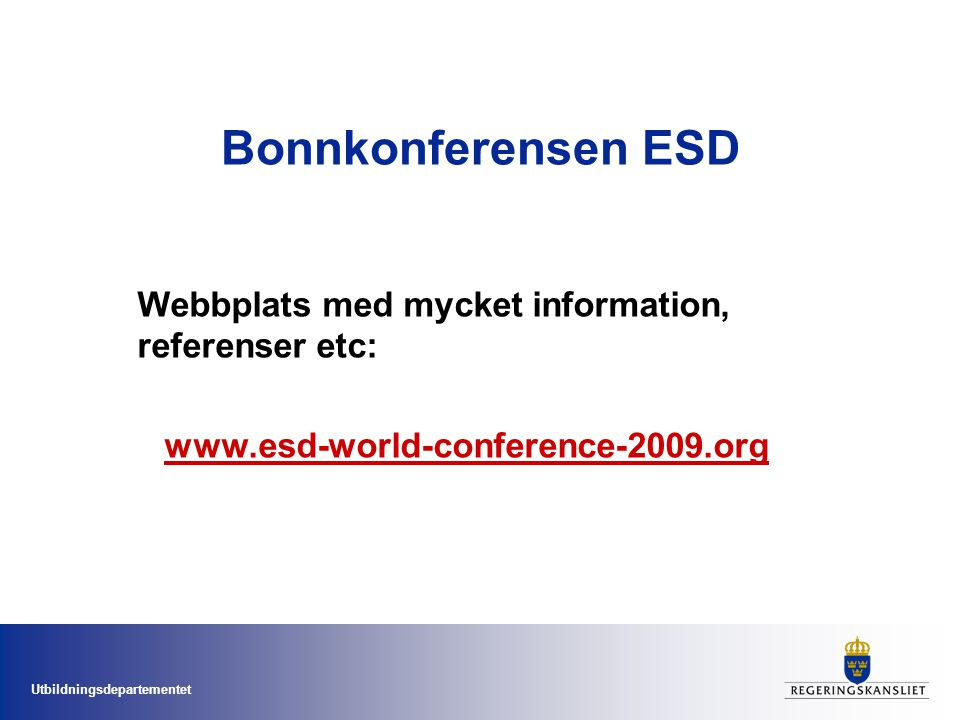 Bonnkonferensen ESD Webbplats med mycket information, referenser etc: