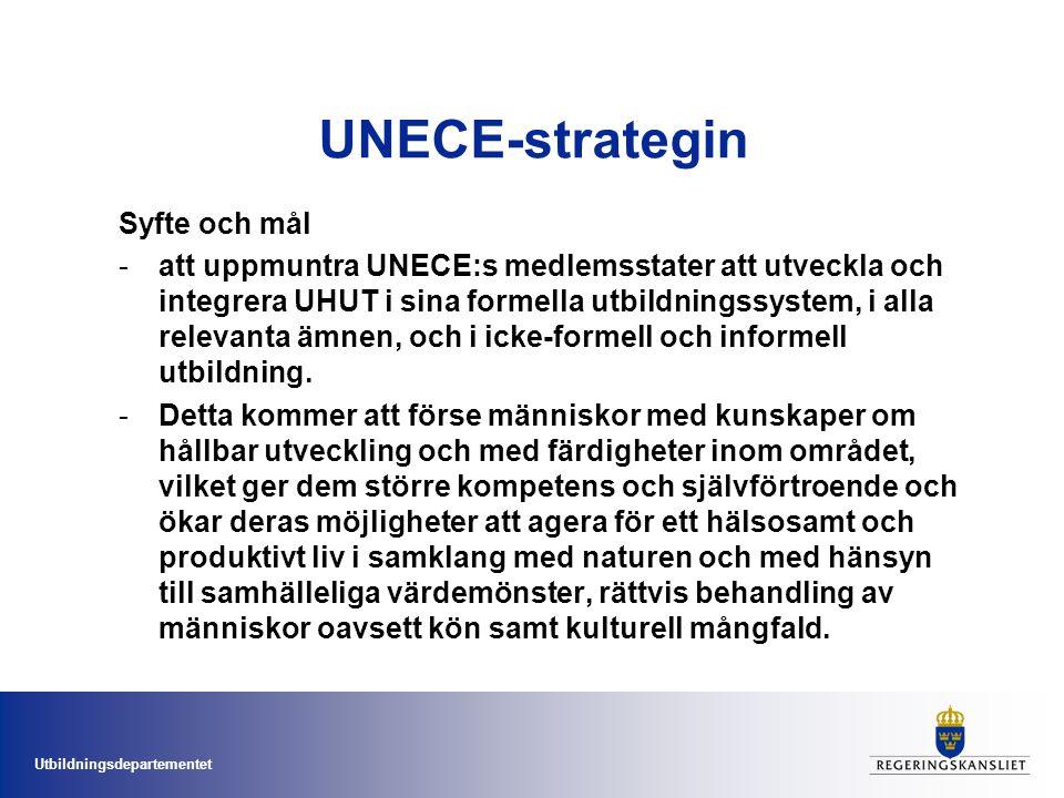 UNECE-strategin Syfte och mål