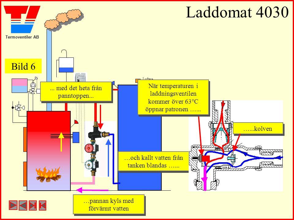 Laddomat 4030 Bild 6. Luftare. När temperaturen i laddningsventilen kommer över 63°C öppnar patronen …...