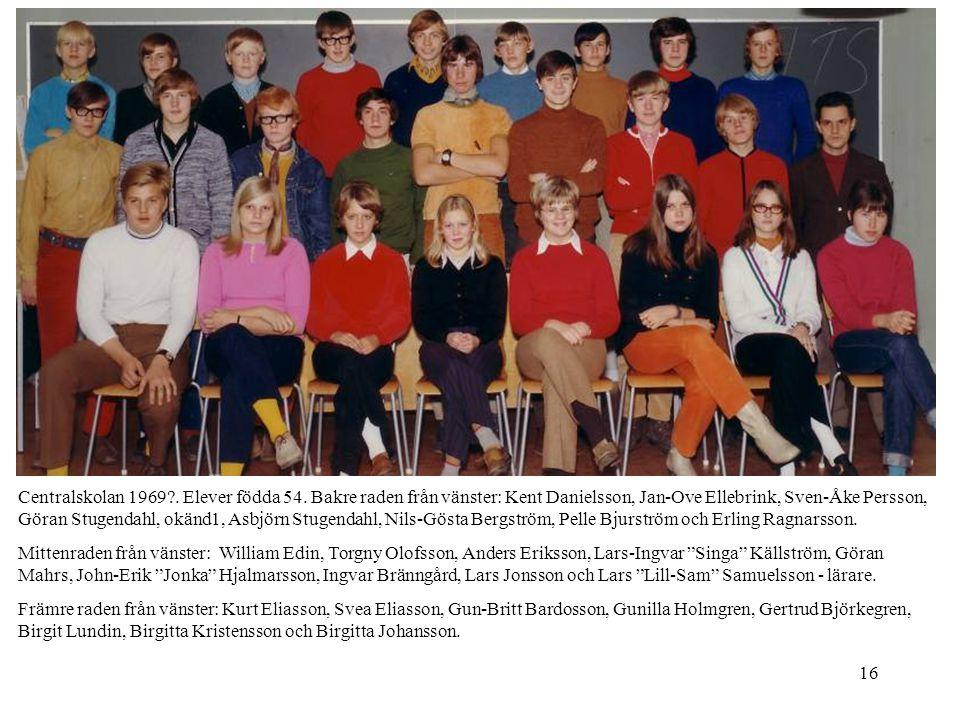 Centralskolan 1969. Elever födda 54