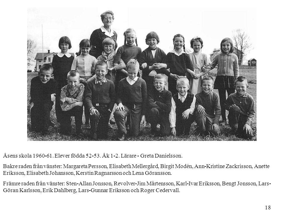 Åsens skola 1960-61. Elever födda 52-53. Åk 1-2