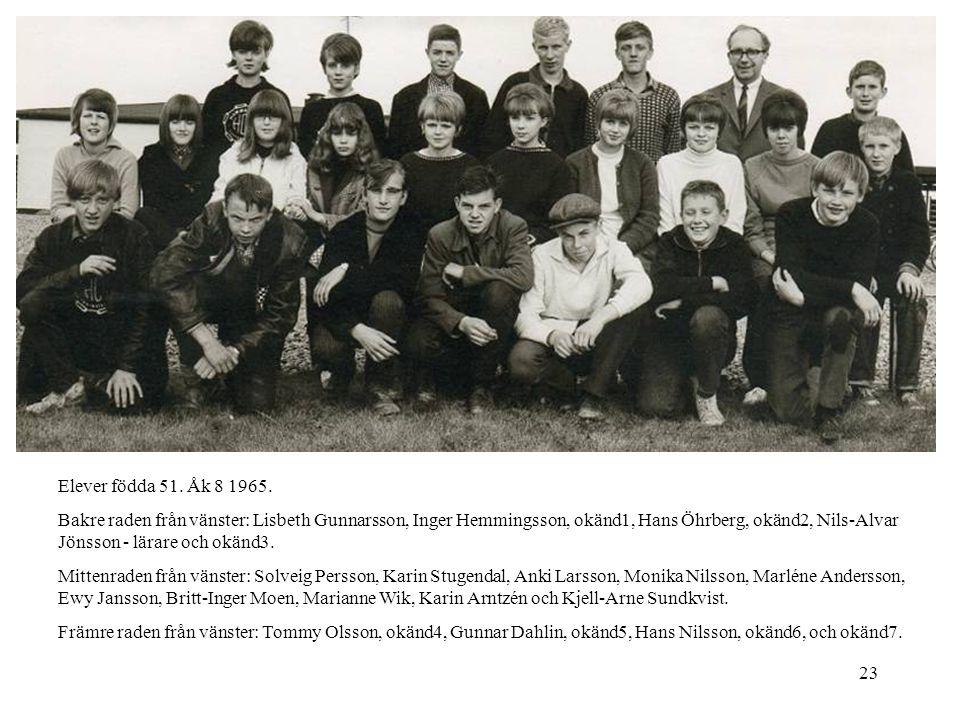 Elever födda 51. Åk 8 1965.