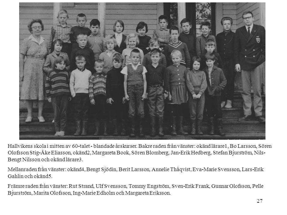 Hallvikens skola i mitten av 60-talet - blandade årskurser