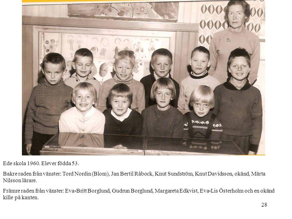 Ede skola 1960. Elever födda 53.
