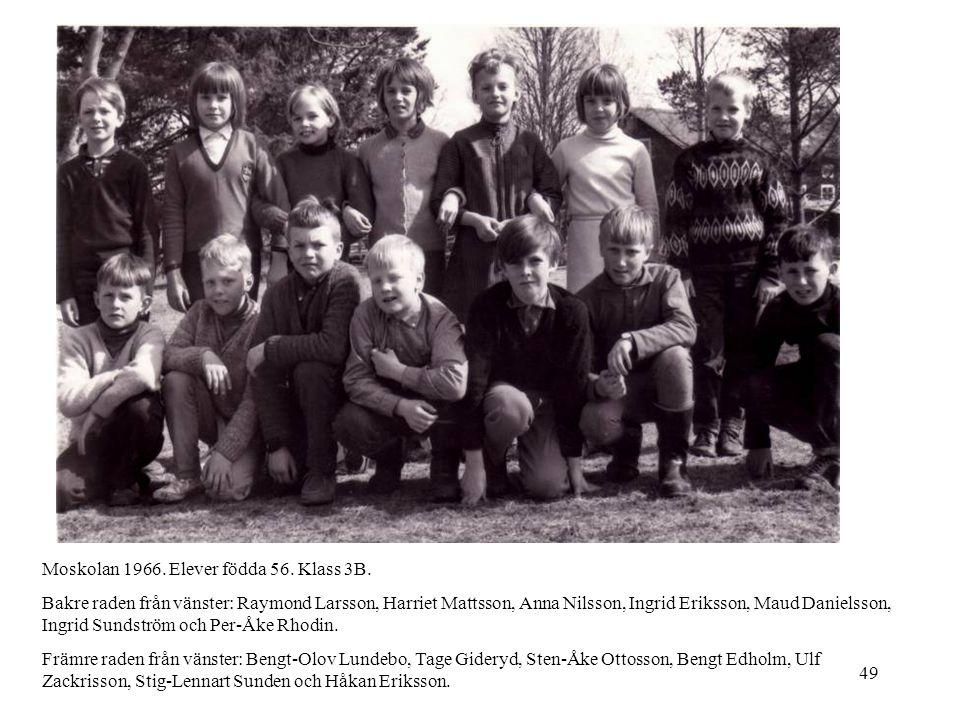 Moskolan 1966. Elever födda 56. Klass 3B.