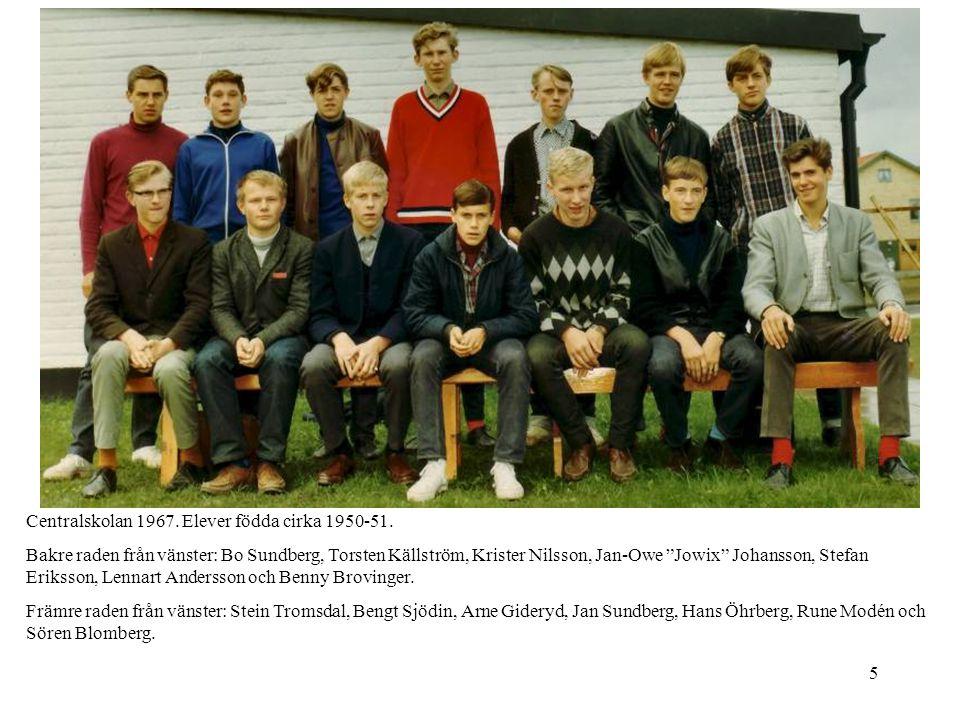 Centralskolan 1967. Elever födda cirka 1950-51.