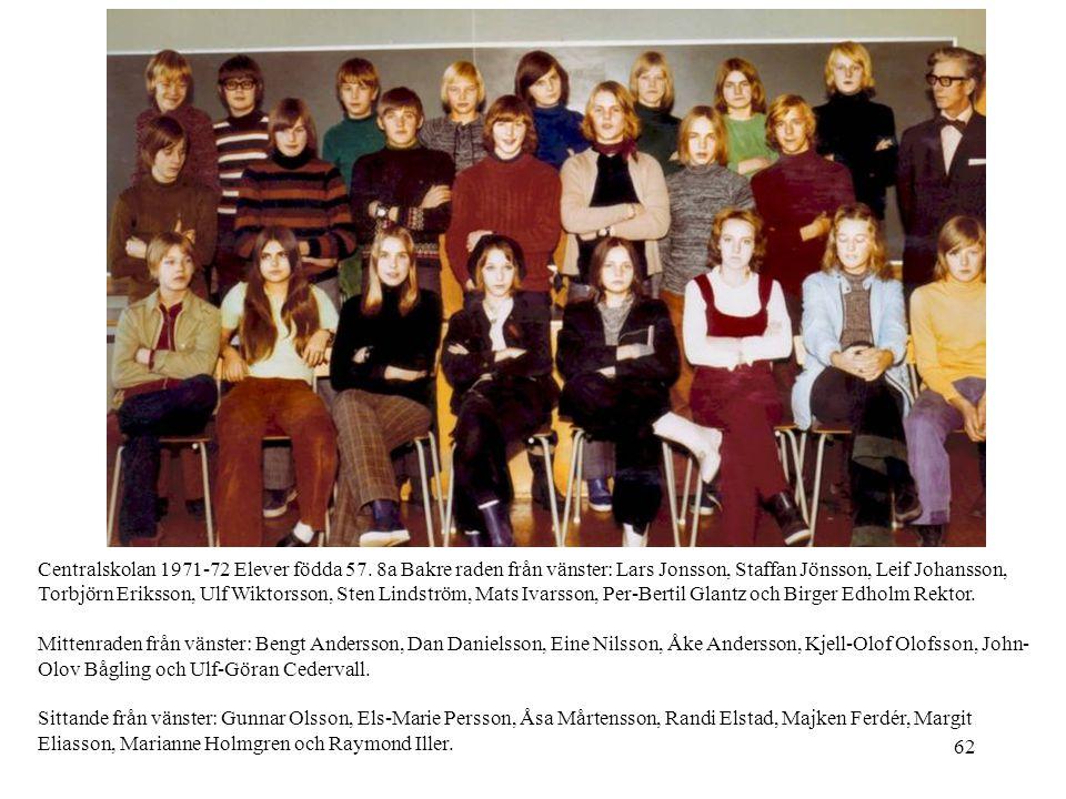 Centralskolan 1971-72 Elever födda 57