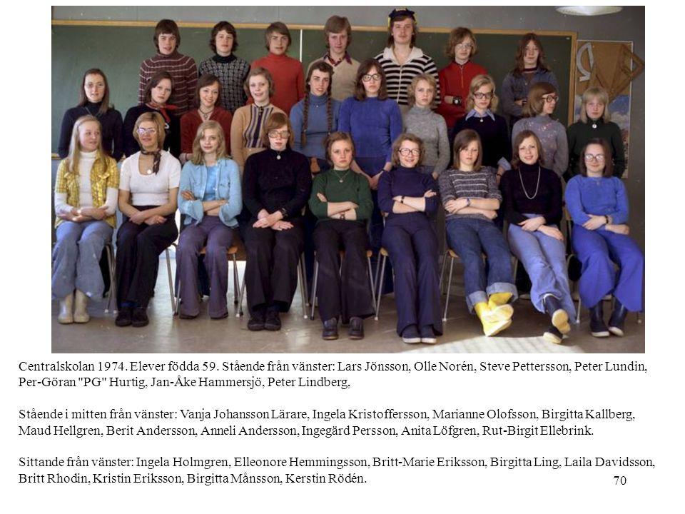 Centralskolan 1974. Elever födda 59