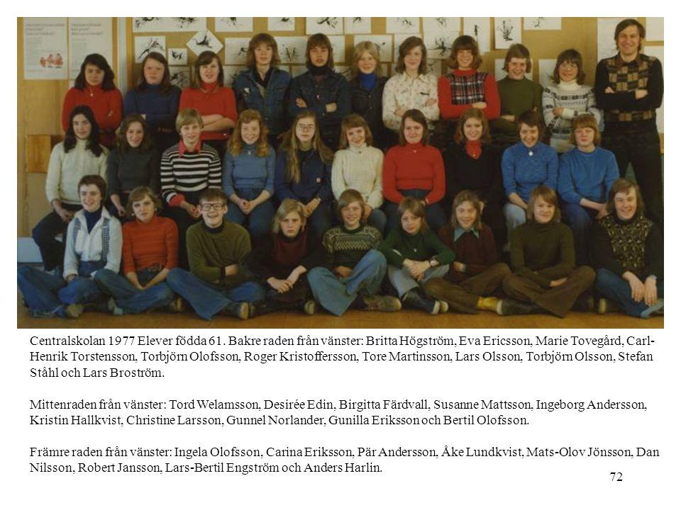 Centralskolan 1977 Elever födda 61