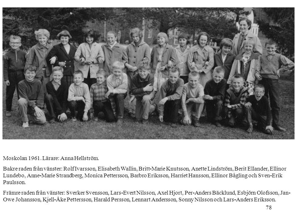 Moskolan 1961. Lärare: Anna Hellström.
