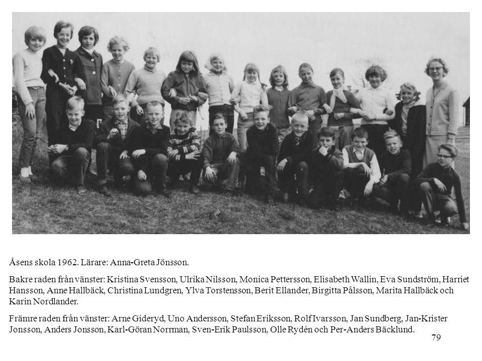 Åsens skola 1962. Lärare: Anna-Greta Jönsson.