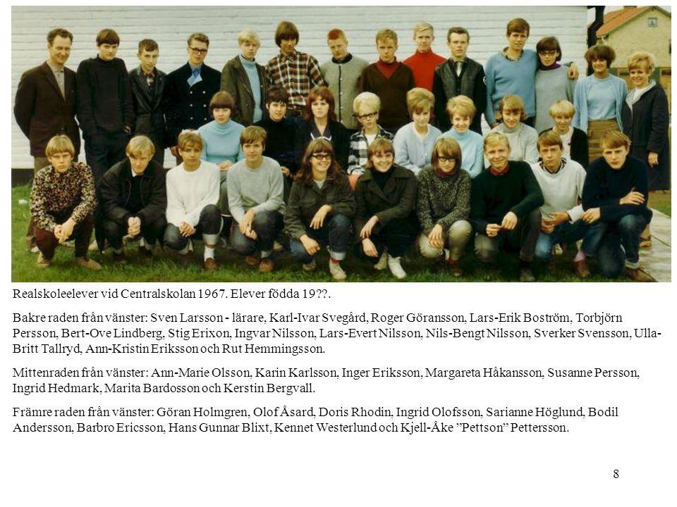 Realskoleelever vid Centralskolan 1967. Elever födda 19 .