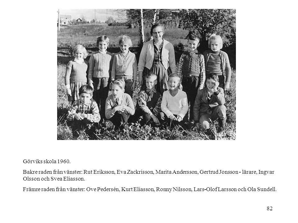 Görviks skola 1960.