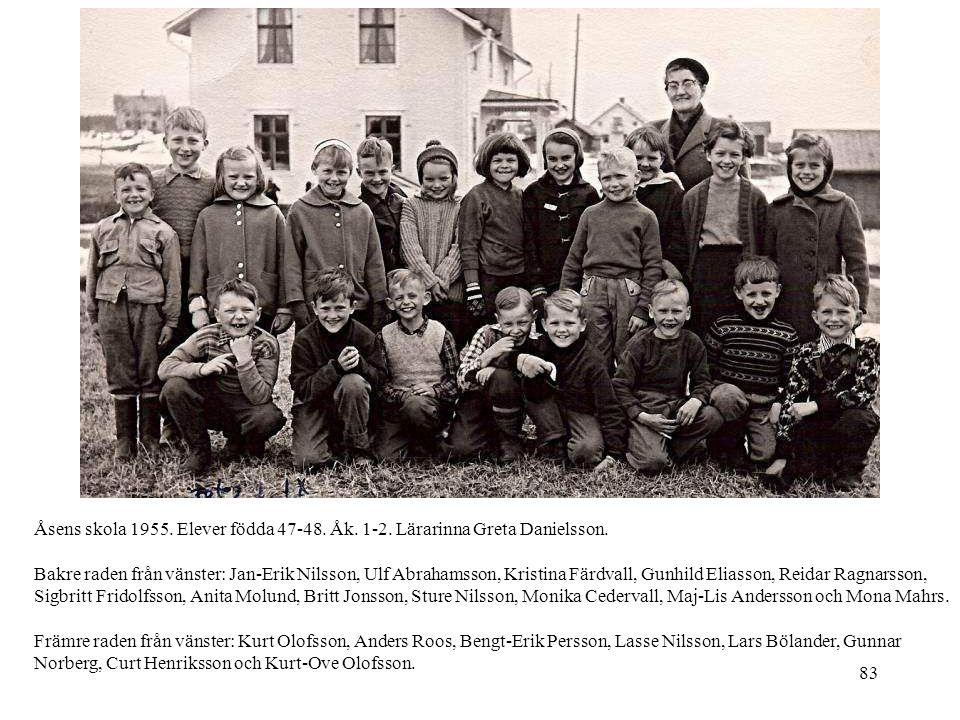 Åsens skola 1955. Elever födda 47-48. Åk. 1-2