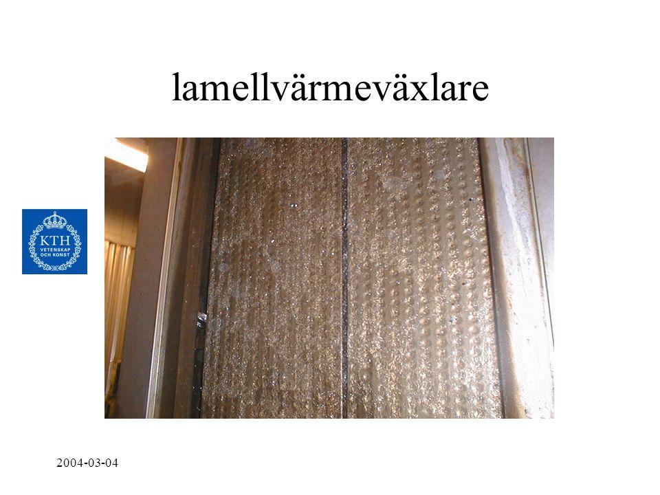 lamellvärmeväxlare 2004-03-04