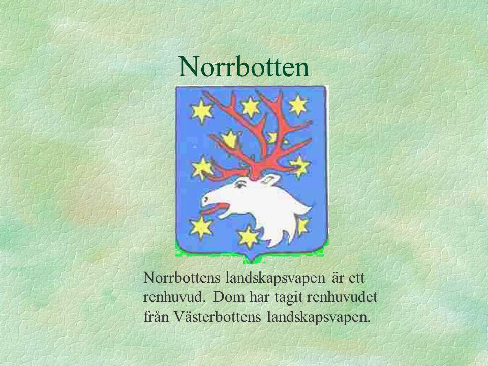 Norrbotten Norrbottens landskapsvapen är ett renhuvud.