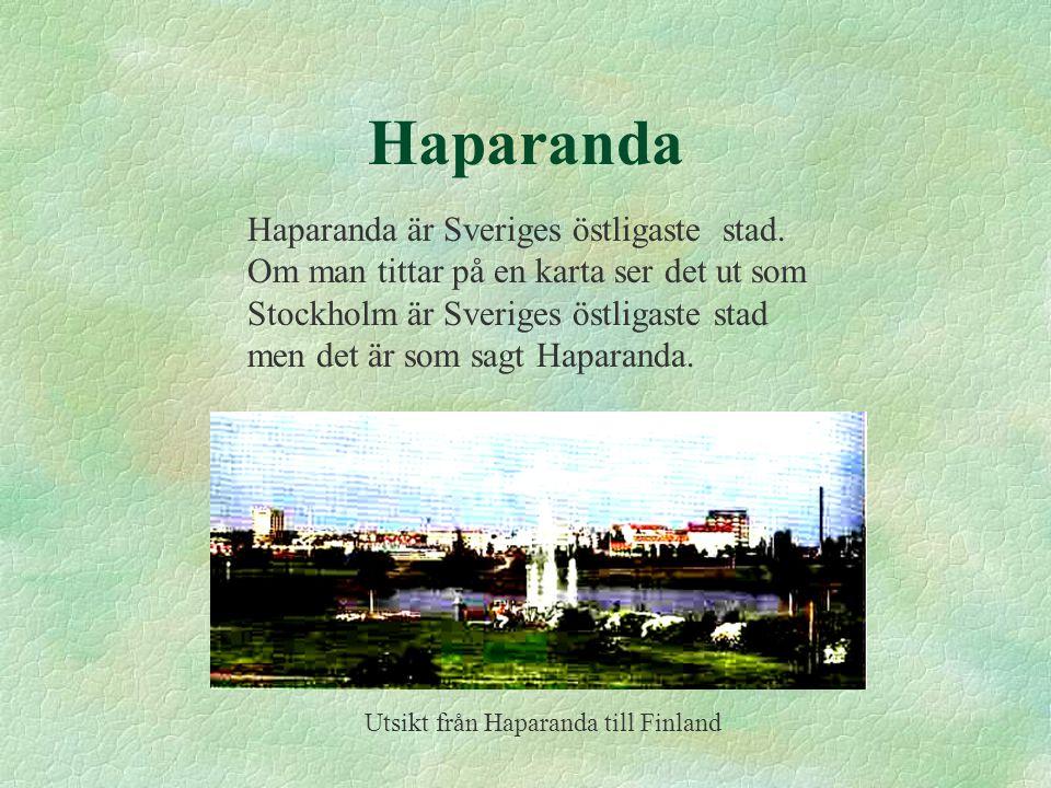 Utsikt från Haparanda till Finland