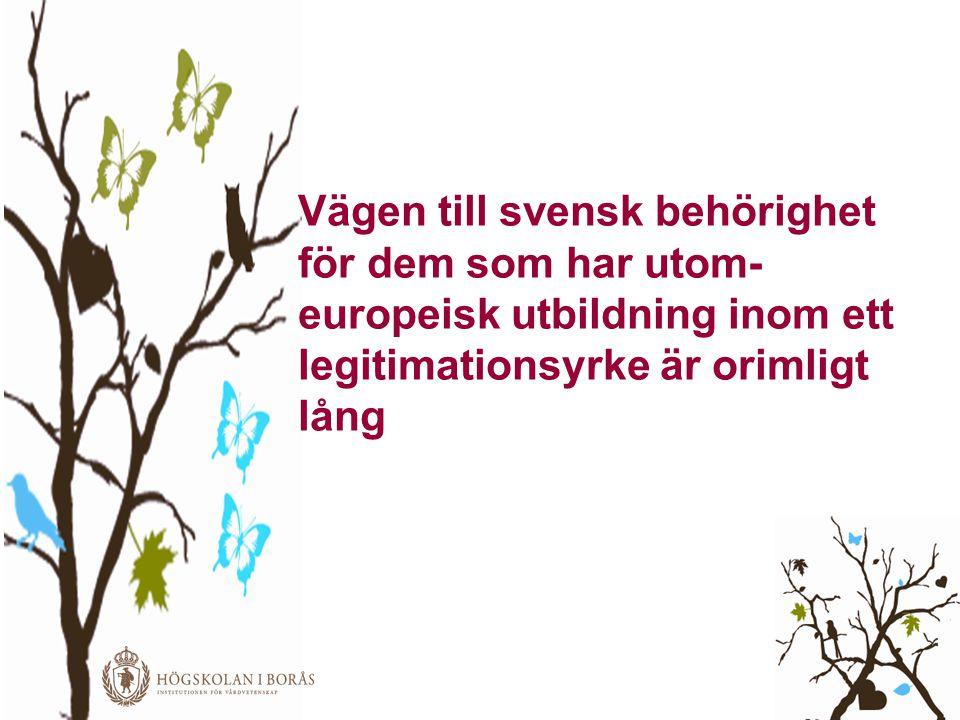 Vägen till svensk behörighet för dem som har utom-europeisk utbildning inom ett legitimationsyrke är orimligt lång