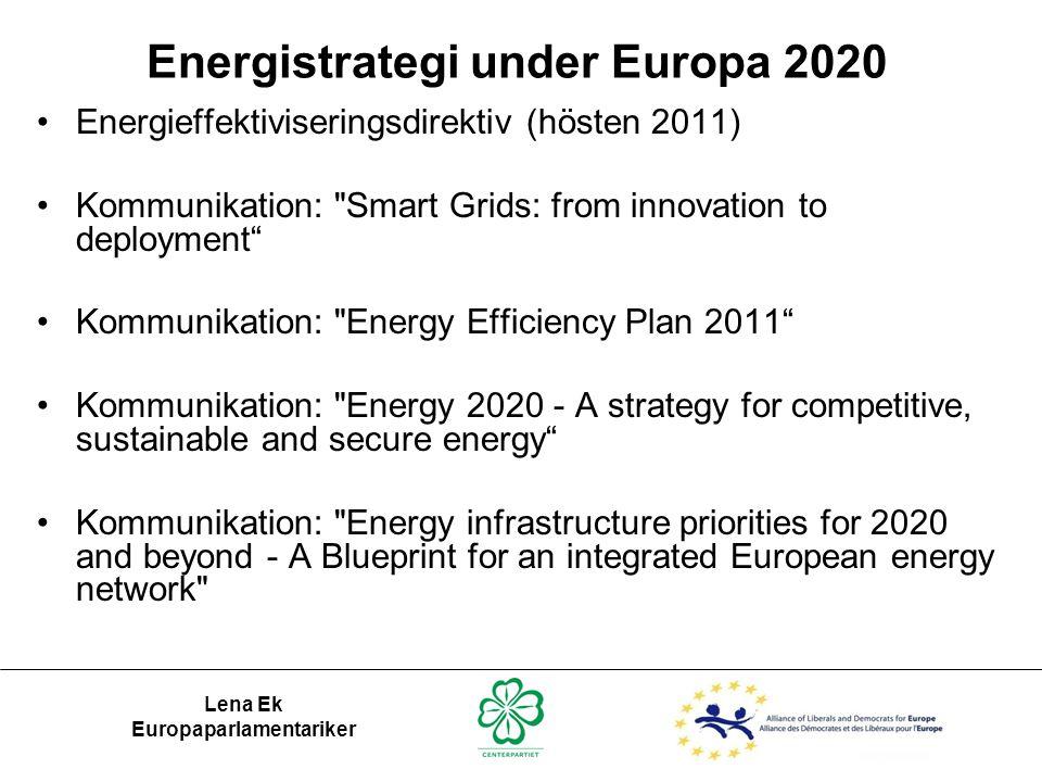 Energistrategi under Europa 2020