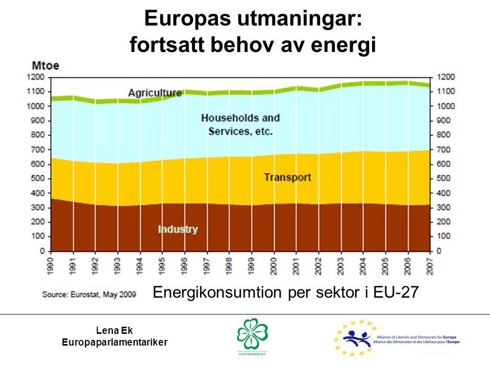 fortsatt behov av energi Europaparlamentariker