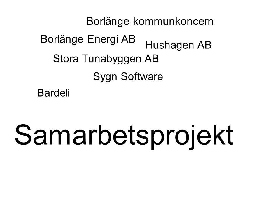 Samarbetsprojekt Borlänge kommunkoncern Borlänge Energi AB Hushagen AB