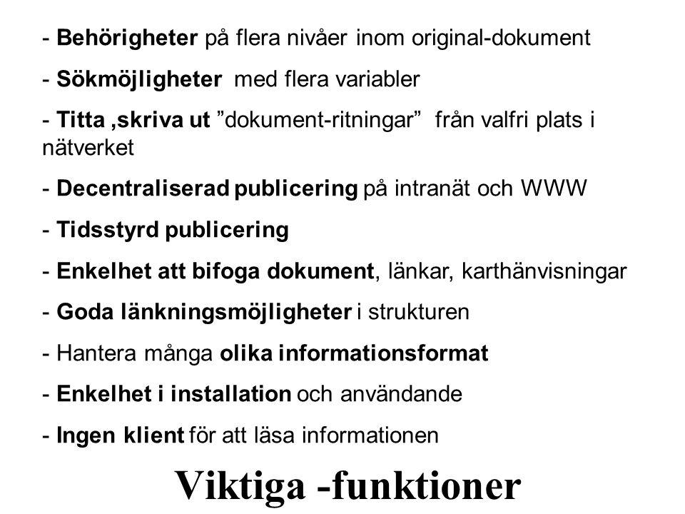 Behörigheter på flera nivåer inom original-dokument