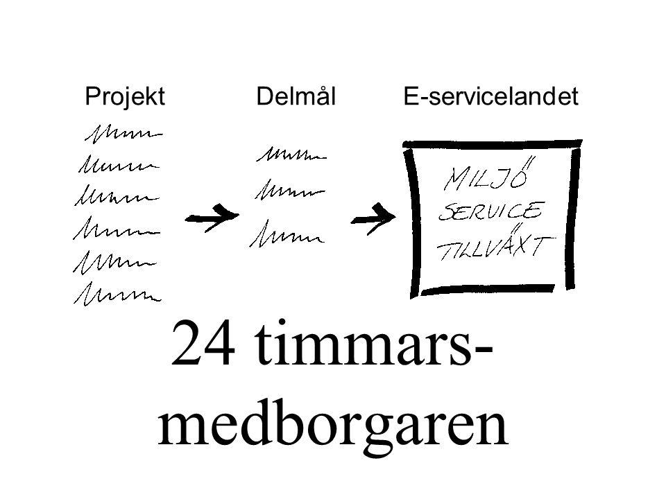 24 timmars-medborgaren Projekt Delmål E-servicelandet