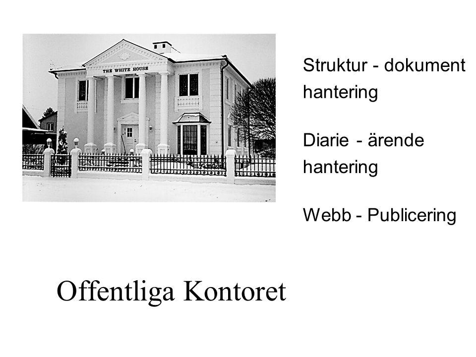 Offentliga Kontoret Struktur - dokument hantering Diarie - ärende
