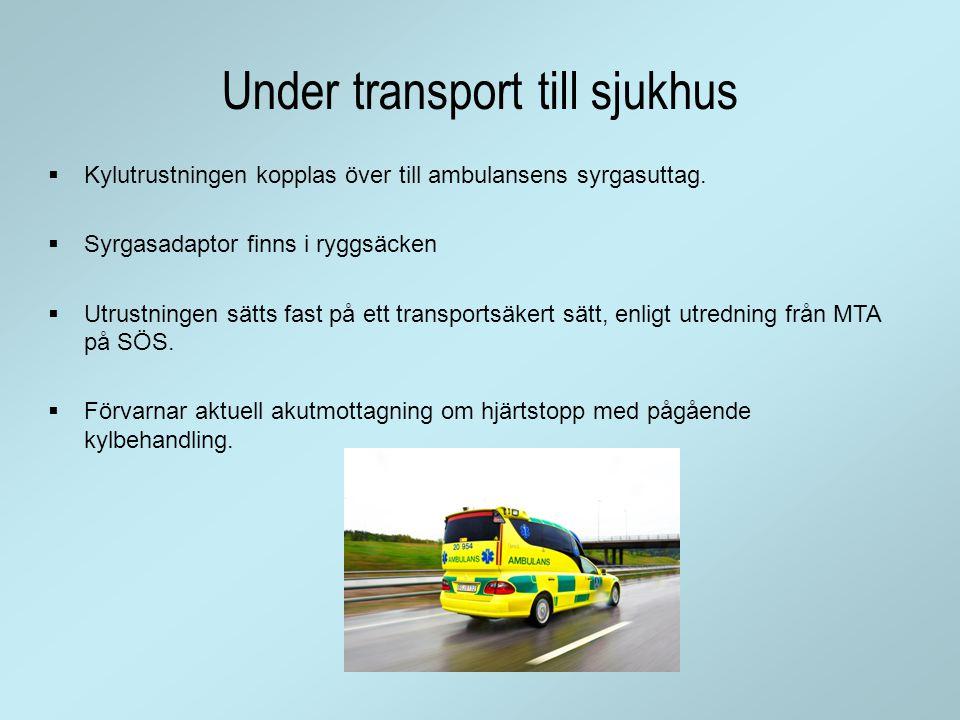 Under transport till sjukhus