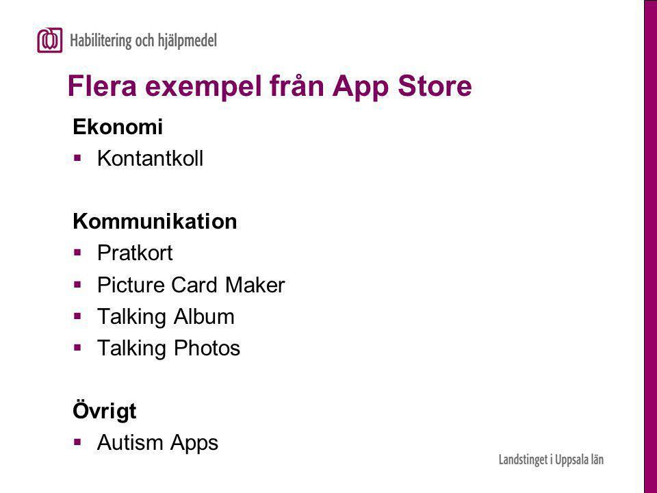 Flera exempel från App Store