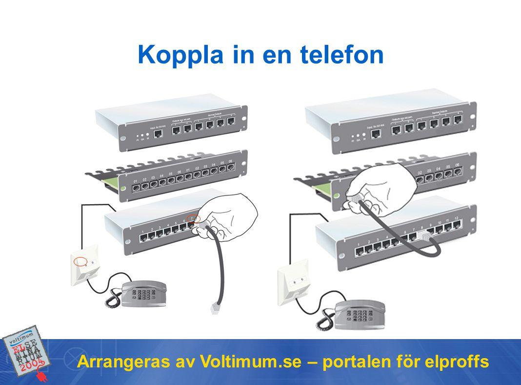 Koppla in en telefon Arrangeras av Voltimum.se – portalen för elproffs