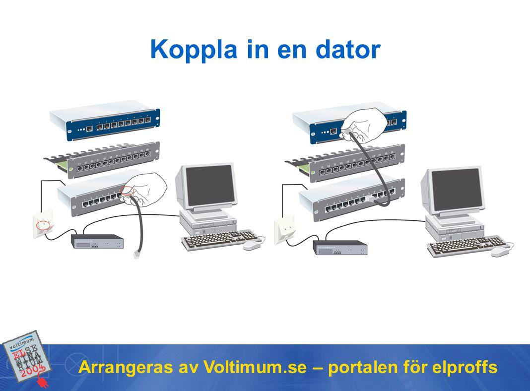 Koppla in en dator Arrangeras av Voltimum.se – portalen för elproffs