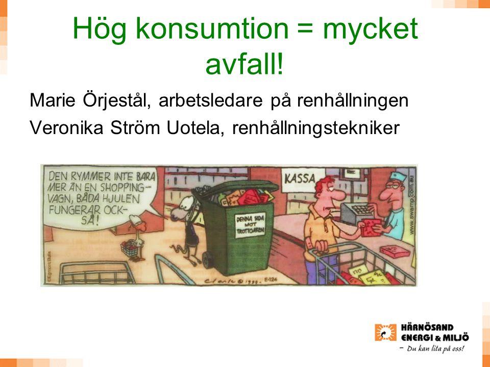 Hög konsumtion = mycket avfall!