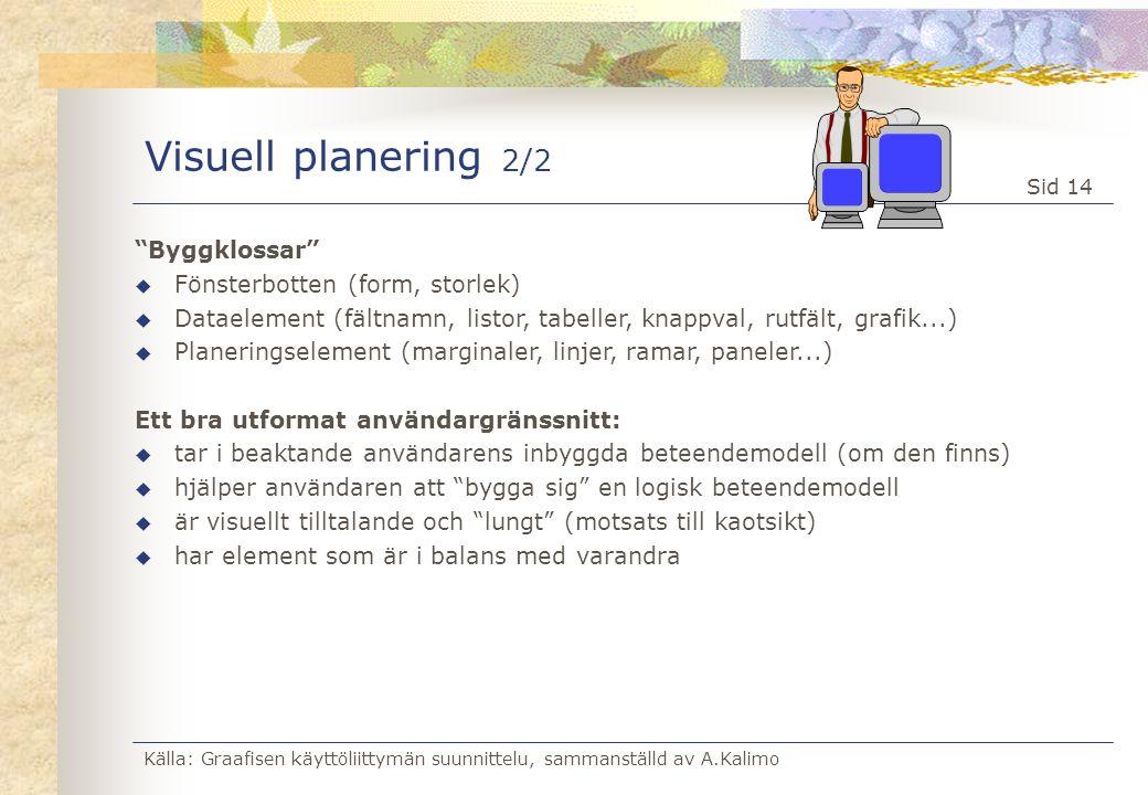Visuell planering 2/2 Byggklossar Fönsterbotten (form, storlek)