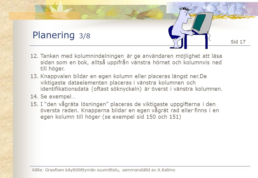 Planering 3/8
